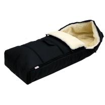 ČRNA zimska vreča 105 cm - 100% ovčja volna