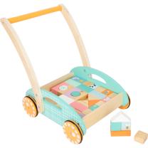 PASTELNI voziček za hojo - hojica s kockami