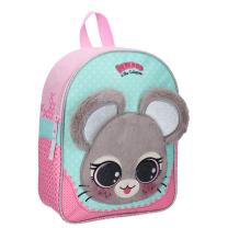 Mint-roza otroški nahrbtnik Lulupop & the Cutiepies MIŠKA