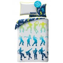 Modro-siva 2-delna posteljnina FORTNITE, Dance 140x200 cm