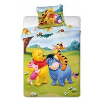 2-delna posteljnina MEDVEDEK PU s prijatelji na travniku 120x90 cm