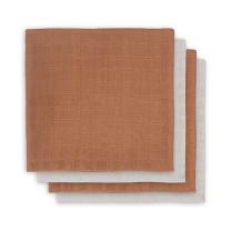 Rjave tetra plenice bambus CARAMEL (70x70 cm) - 4  kosi, Jollein®