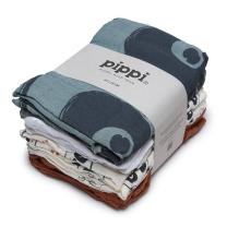 Petrol modre tetra plenice iz organskega bombaža PANDE (8 KOSOV) Pippi®