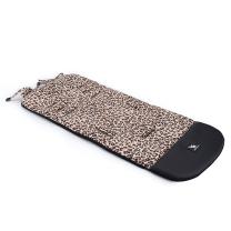 KREMNO BELA rjav leopard vzorec blazina za voziček ČRNO USNJE 85x35 cm, Cottonmoose
