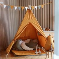 Mustard rumen šotor Babo Tipi, podloga 100x100 cm