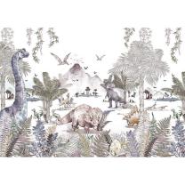 Stenske tapete za otroško sobo DINO SVET (300x280 cm), Malumi