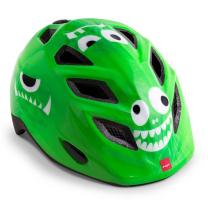 Zelena otroška kolesarska čelada POŠASTI 52-57 MET Genio
