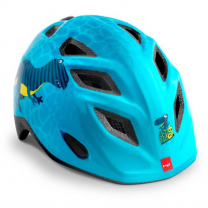 Modra otroška kolesarska čelada DINOZAVER 52-57 MET Genio