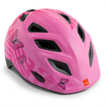 Roza otroška kolesarska čelada METULJČKI 52-57 MET Genio