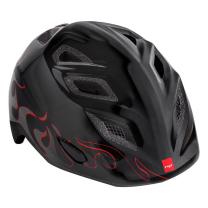 Črna otroška kolesarska čelada PLAMENI 52-57 MET Genio