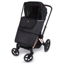 Črna zaščita ZA DEŽ za otroški voziček, Cottonmoose