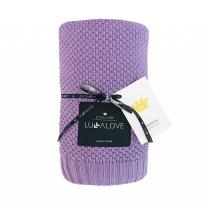 Svetlo vijolična bambusova pletena odeja MAKRON LULLALOVE 80x100 cm