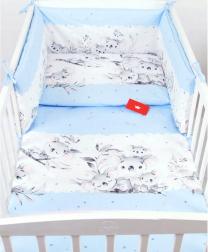 Modra 3-delna posteljnina KOALA 135x100 cm