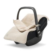 Bež pletena vreča za voziček, lupinico ali otroški avtosedež  BASIC KNIT NOUGAT, Jollein®