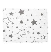 bela 2-delna posteljnina sive velike in male zvezdice 60x75 cm, largo