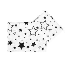 Bela posteljnina črne zvezdice