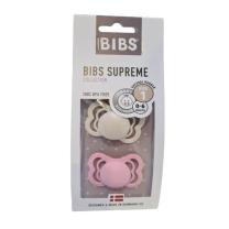 Duda BIBS - Ivory&Baby Pink Silicone, Supreme 0-6M (2 kosa)