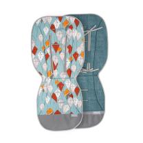 Jeans metal mint dvostranska blazina za voziček MINT zmaji, Beztroska