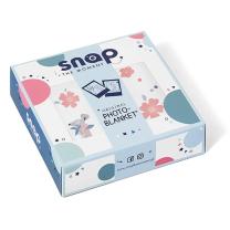 Kremno bela odejica Photo-blanket® ROSY WHITE 80x100 cm