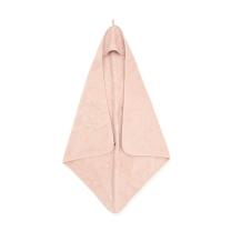 PUDRASTO ROZA brisača s kapuco 75x75 cm, Jollein®