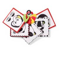 Črno - rdeče senzorične kartice ŽIVALI (3m+), BabyOno