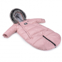 Pudrasto roza pajac - zimska vreča Moose (0-6 m), Cottonmoose
