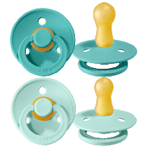 Duda BIBS - Mint&Turquoise, 0-6M (2 kosa)