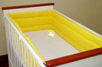 Živo rumena obroba za posteljico, 360x30 cm
