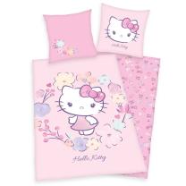 Roza 2-delna posteljnina Hello Kitty 140x200 cm