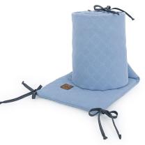 JEANS MODRA obroba za posteljico, MUSLIN (180x30 cm), MAMO-TATO