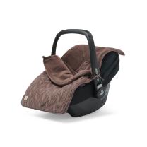 Rjava pletena vreča za voziček, lupinico ali otroški avtosedež  SPRING KNIT CHESTNUT, Jollein®
