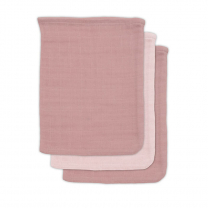 Roza krpice za umivanje iz bambusa PINK PALE (3 kosi) Jollein®