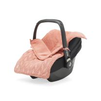 Koralno roza pletena vreča za voziček, lupinico ali otroški avtosedež  SPRING KNIT ROSEWOOD, Jollein®