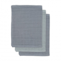 Sive krpice za umivanje iz bambusa STORM GREY (3 kosi) Jollein®