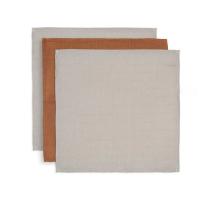 Karamel rjave krpice za umivanje iz bambusa 31x31cm (3 kosi) Jollein®