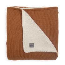 Karamel rjava dvostranska pletena odeja BLISS 75x100 cm, Jollein