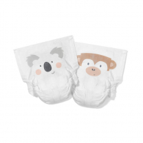 EKO plenice KIT&KIN koala in opica (30 kosov) – velikost 5 (11+ kg)