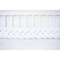 Kitka RIBJA KOST za otroško posteljico (200 cm), BELA