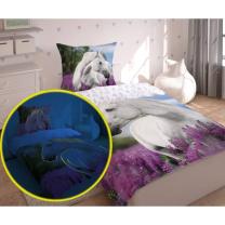 2-delna posteljnina konj - GLOW IN THE DARK 140x200 cm