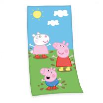 Otroška kopalna brisača PUJSA V PEPA v luži 75x150 cm