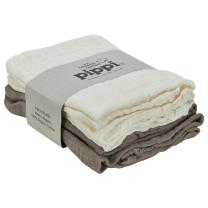 Kremno bele in kavno rjave tetra pleničke iz organskega bombaža (4 KOSI) Pippi®
