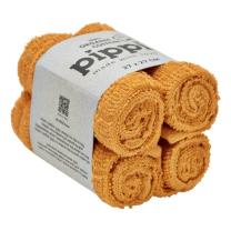 Mustard rumene krpice za umivanje iz organskega bombaža (4 KOSI) Pippi®