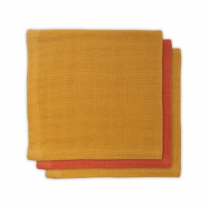 Mustard rumene - oranžne krpice za umivanje iz bambusa 31x31cm (3 kosi) Jollein®
