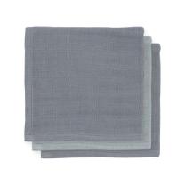 Sive - temno sive krpice za umivanje iz bambusa 31x31cm (3 kosi) Jollein®