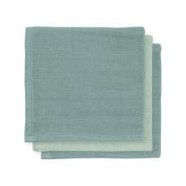 Mint - zelene krpice za umivanje iz bambusa ASH GREEN 31x31cm (3 kosi) Jollein®