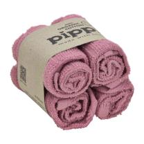 Umazano roza krpice za umivanje iz organskega bombaža (4 KOSI) Pippi®