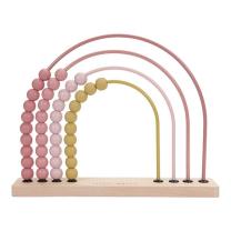 ROZA leseno abakus računalo mavrica (12m+), Little Dutch - NOVO