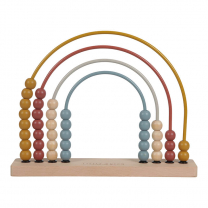 RDEČE leseno abakus računalo mavrica (12m+), Little Dutch