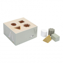 ZELENA kocka za razvrščanje oblik MALA GOSKA (12m+); Little Dutch