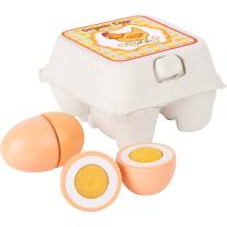 Lesena kokošja jajčka